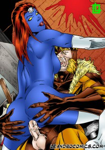 saberthooth gives mystique anal fuck