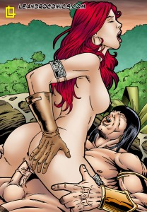 red sonja rides conan's cock