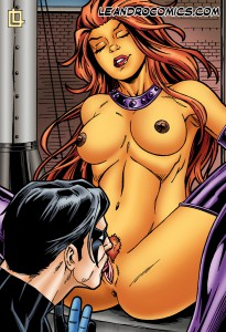 starfire gets pussy licked